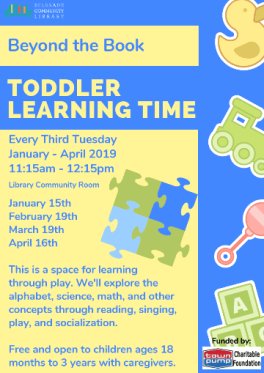 Beyond the Book Toddler Learning Time third Tuesdays