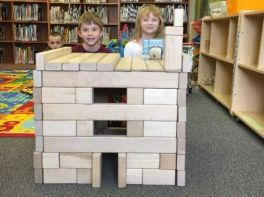 Tall block creation in the children's library