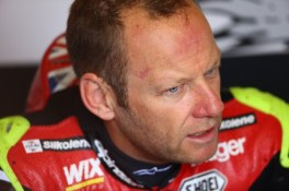 Byrne was back in action with Be Wiser Ducati
