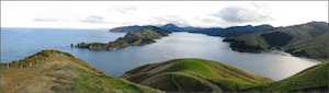 Cook Strait and Tory Channel during the LEARNZ Wandering Whales Field Trip