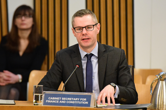 Photo of Derek Mackay, the Cabinet Secretary for Finance and Constitution
