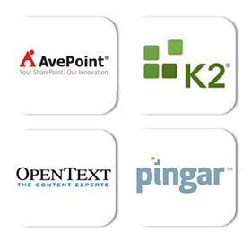 AvePoint, K2, OpenText, Pingar