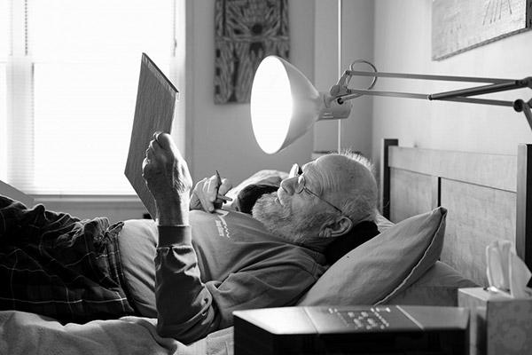 Oliver Sacks at work, February 2015
