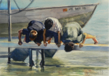 Jim Heiser - Still Admiring the Catch (SOLD)