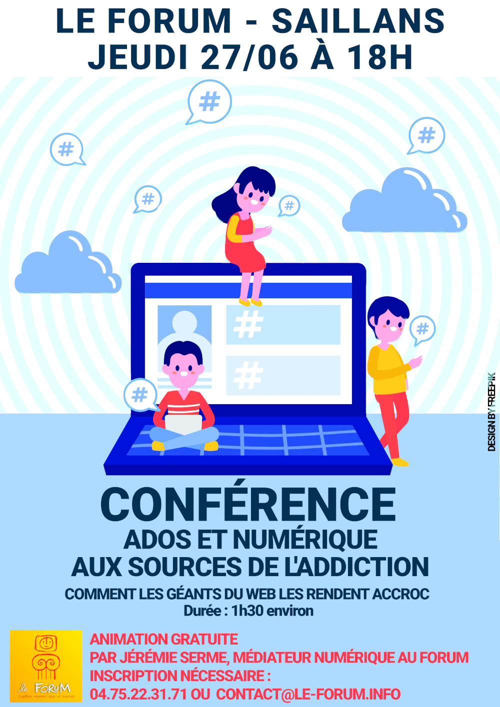 Conférence Ados et numérique : aux sources de l'addiction – jeudi 27/06 à 18h