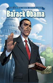 [Barack Obama: The Comic Book Biography cover]