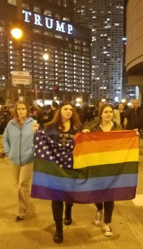 Pride flag by Trump Tower