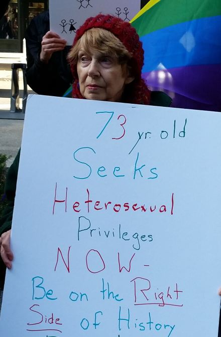 73-year-old seeks heterosexual privileges NOW