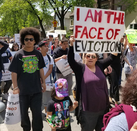 I am the face of eviction