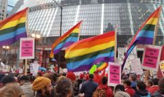 Rainbow flags for Education & Justice