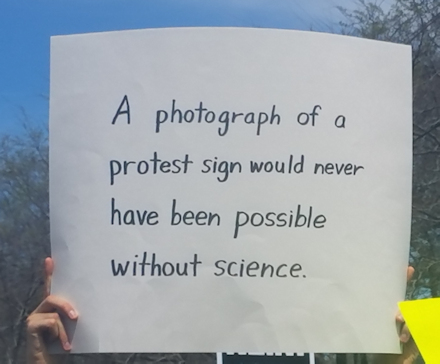 A photo of a protest...