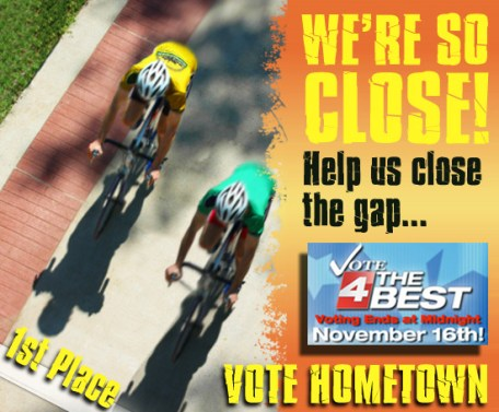 Help us be number one! Vote 4 the Best