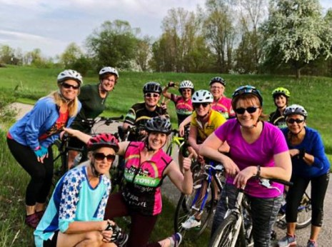 Hometown Bicycles Ladies Road Ride shop ride with Team Hometown Bicycles