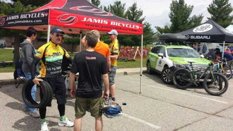 Team Hometown Bicycles at Island Lake Spring Bike Demo Day