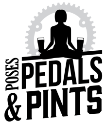 Poses, Pedals and Pints logo