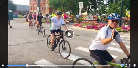Hometown Bicycles at the Howell Melon Festival's 2018 Doc May Memorial Melon Ride in downtown Howell
