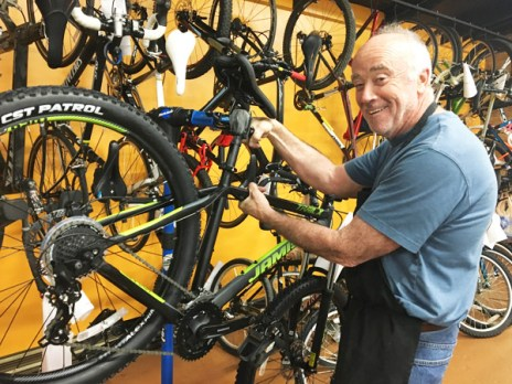 Hometown Bicycles Service Tech David Keller