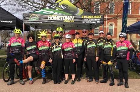 Team Hometown Bicycles at 2018 Barry Roubaix Killer Gravel Road Race