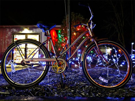 Hometown Bicycles Christmas bike with lights