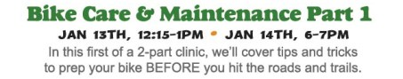 Bike Care & Maintenance Clinic: Part 1