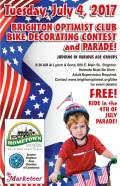 Brighton Optimist Club partnering with Hometown Bicycles on the Fourth of July Kids Bike Decorating Contest
