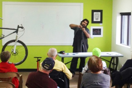 Emergency Bicycle Repair clinic at Hometown Bicycles with Shaun Bhajan