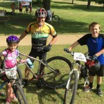 Team Hometown Bicycles doing Take Your Kids Mountain Biking Day