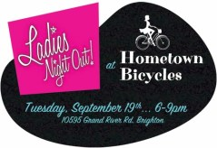 Ladies Night Out at Hometown Bicycles logo