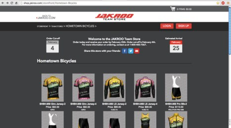 Hometown Bicycles team store