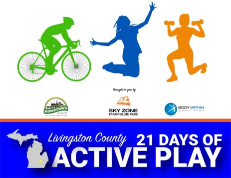 Livingston County 21 Days of Active Play Challenge logo