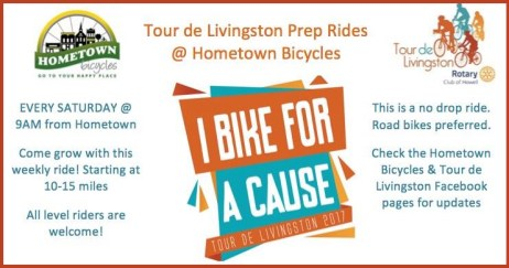 Tour de Livingston Prep Rides at Hometown Bicycles