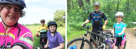 Team Hometown Bicycles dads Paul Andres and Mike Dyer on Father's Day rides with their littles