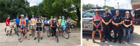 Hometown Bicycles July Jubilee 2018 - group ride with police escort