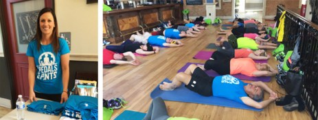 Yoga run by Ashley Knuth of Tocca Massage and Yoga at Poses, Pedals, and Pints