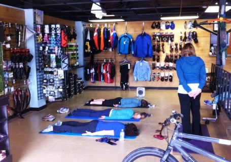 Yoga for Cyclists at Hometown Bicycles of Brighton, MI