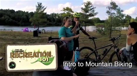 Tom Hermann and Doug Lapp at Intro to Mountain Biking