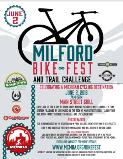 Milford Bike Fest and Trail Challenge poster