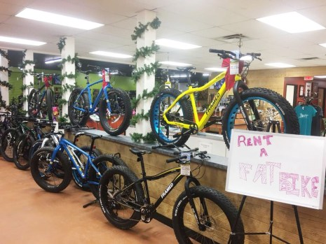 Rent a fat bike at Hometown Bicycles