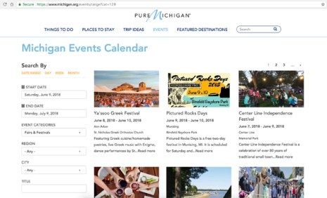 Pure Michigan Michigan Events Calendar
