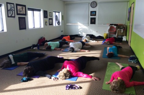 Yoga for Cyclists in the Hometown Bicycles Community Room