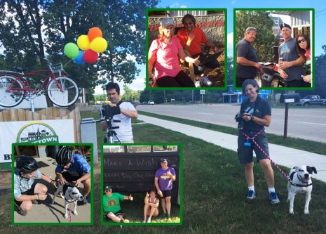 Amazing volunteers of Tour de Livingston Party Ride with Shaun at Hometown Bicycles