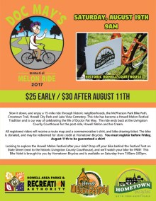 Doc May's Memorial Melon Ride 2017 flier