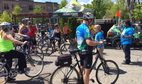 Hometown Bicycles at Poses, Pedals and Pints in Downtown Brighton