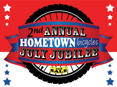 2nd Annual Hometown Bicycles July Jubilee and Sale logo