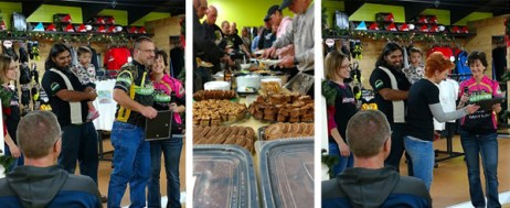 Team Hometown Bicycles Team Night awards and food