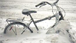 Michigan winter bicycle