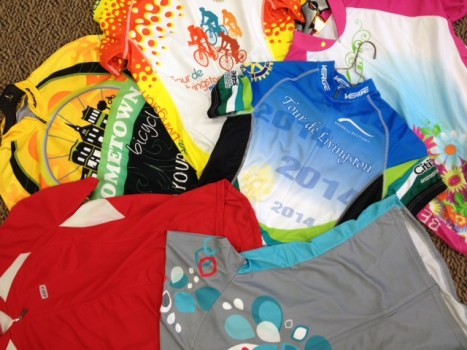Cycling jersey trade-in program at Hometown Bicycles