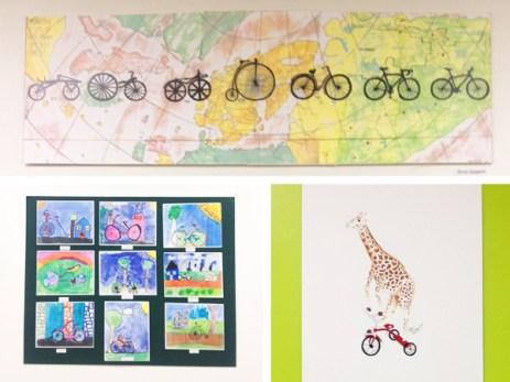 Pinckney student bicycle art