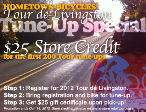 Hometown Bicycles Tour de Livingston Tune Up Special