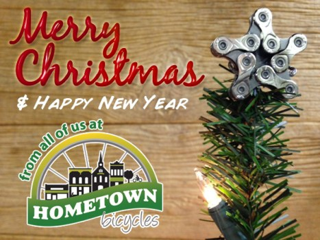 Merry Christmas and Happy New Year from all of us at Hometown Bicycles
